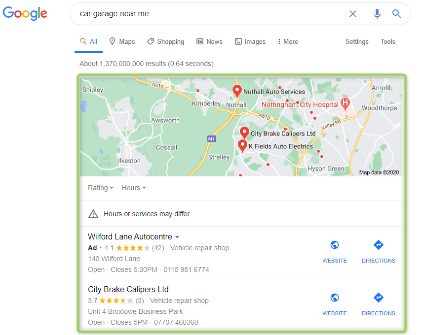 top 10 SEO trends - google local pack